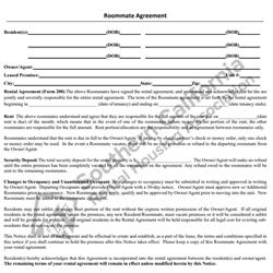 Digital #201Roommate Agreement