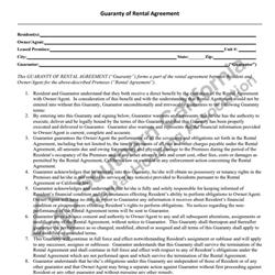 Digital #206Guarantee of Rental Agreement