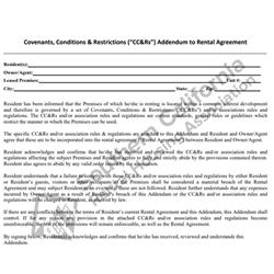 Digital #212SFR Covenants, Conditions & Restrictions (CC&Rs) Addendum