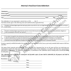 Digital #215SFRAttorney's Fees/Court Cost Addendum