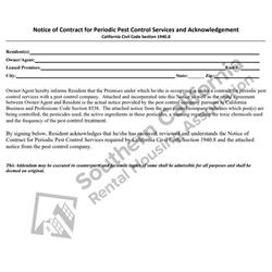 Digital #227Acknowledgment of Receipt of Pest Control Notice