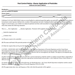 Digital #228Pest Control Notice by Owner