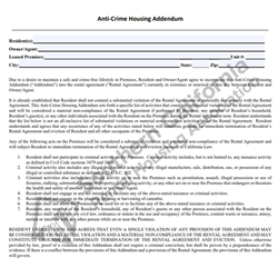 Digital #254Anti-Crime Housing Addendum