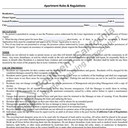 Digital #257Apartment Rules and Regulations