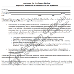 Digital #262Service/Companion Animal Agreement