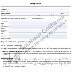 Digital #263Pet Agreement