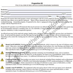Digital #268Prop 65 Warning Addendum