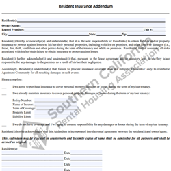 Digital #278Resident Insurance Addendum