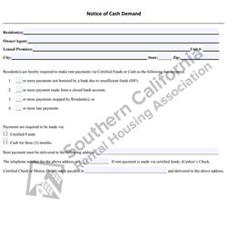 Digital #360 Notice of Cash Demand