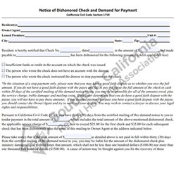 Digital #370Notice and Demand Regarding Dishonored Check