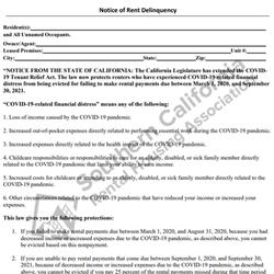 Digital #401COVID-19 Notice of Rent Deliquency