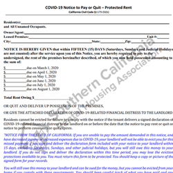 Digital #402COVID-19 Notice to Pay or Quit – Protected Period Rent