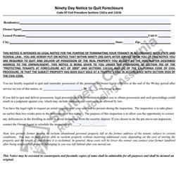Digital #42590 Day Notice to Quit – Foreclosure
