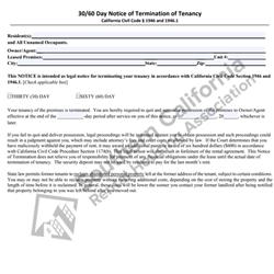Digital #43030 – 60 Day Notice of Termination of Tenancy