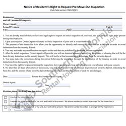 Digital #445Notice of Resident's Right to Request Pre Move-Out Inspection