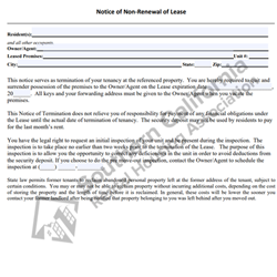 Digital #470Notice of Non Renewal of Lease