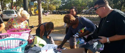 Homeless Blessing Bag Outreach Day