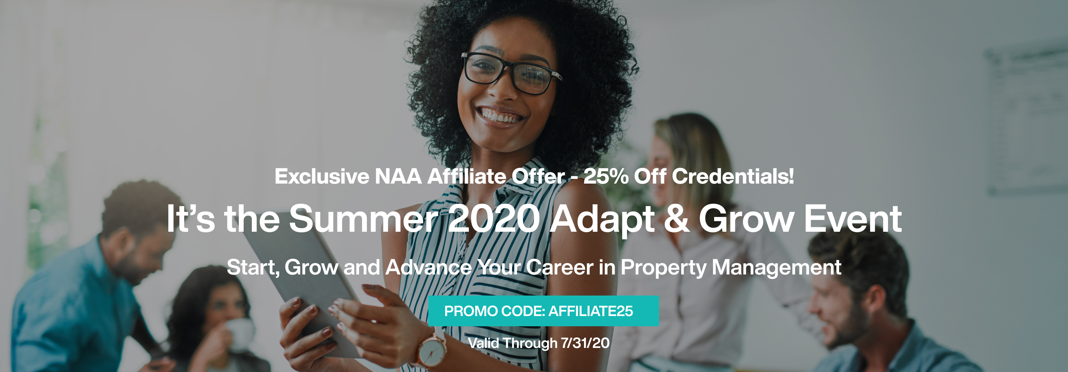exclusive naa affiliate offer - 25% off credentials. promo code: affiliate25 valid through 7/31/2020