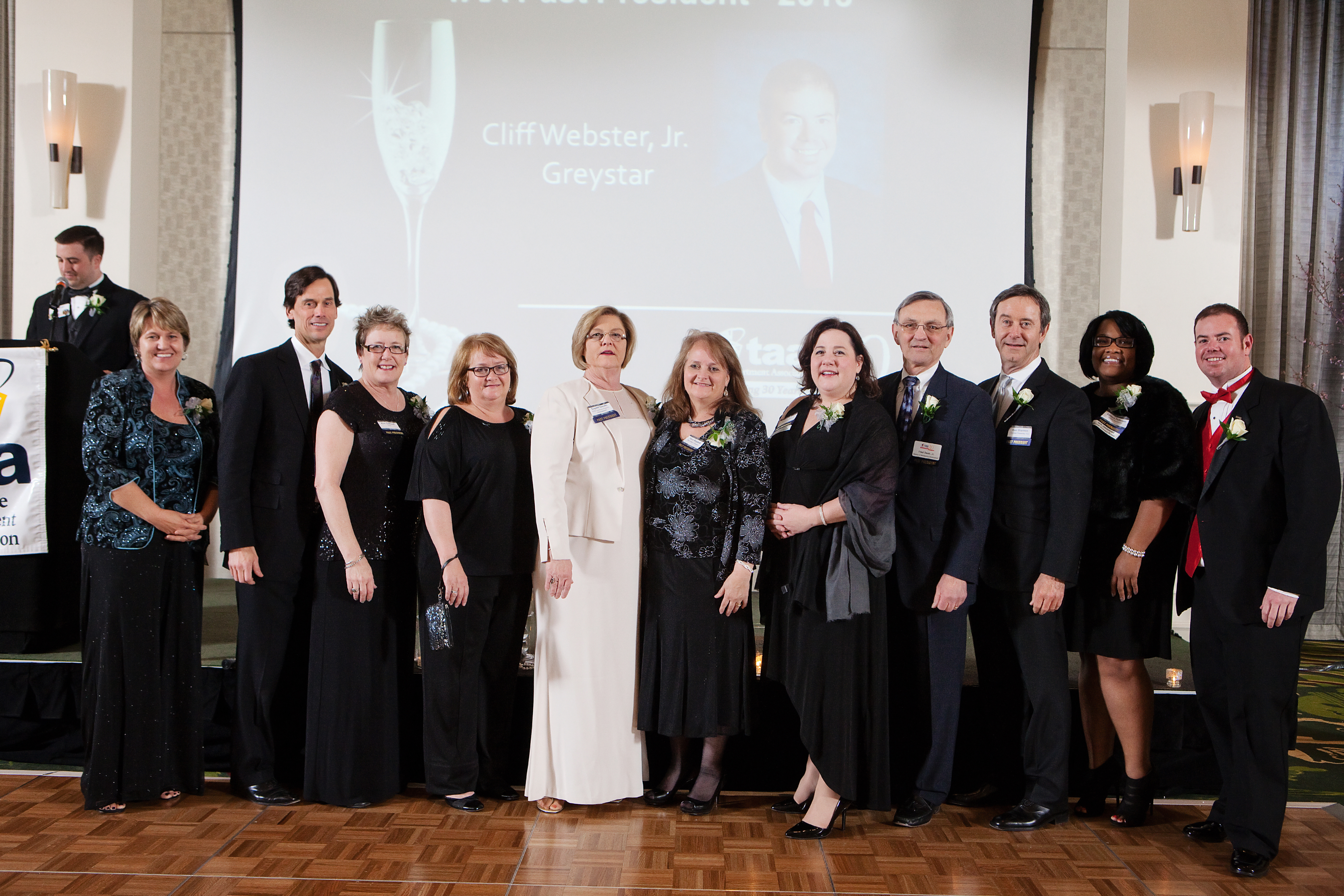 Past Presidents attending TAA's 30th Anniversary Gala in 2014