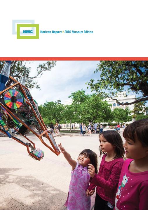 Citation Freeman, A., Adams Becker, S., Cummins, M., McKelroy, E., Giesinger, C., Yuhnke, B. (2016). NMC Horizon Report: 2016 Museum Edition. Austin, Texas: The New Media Consortium.