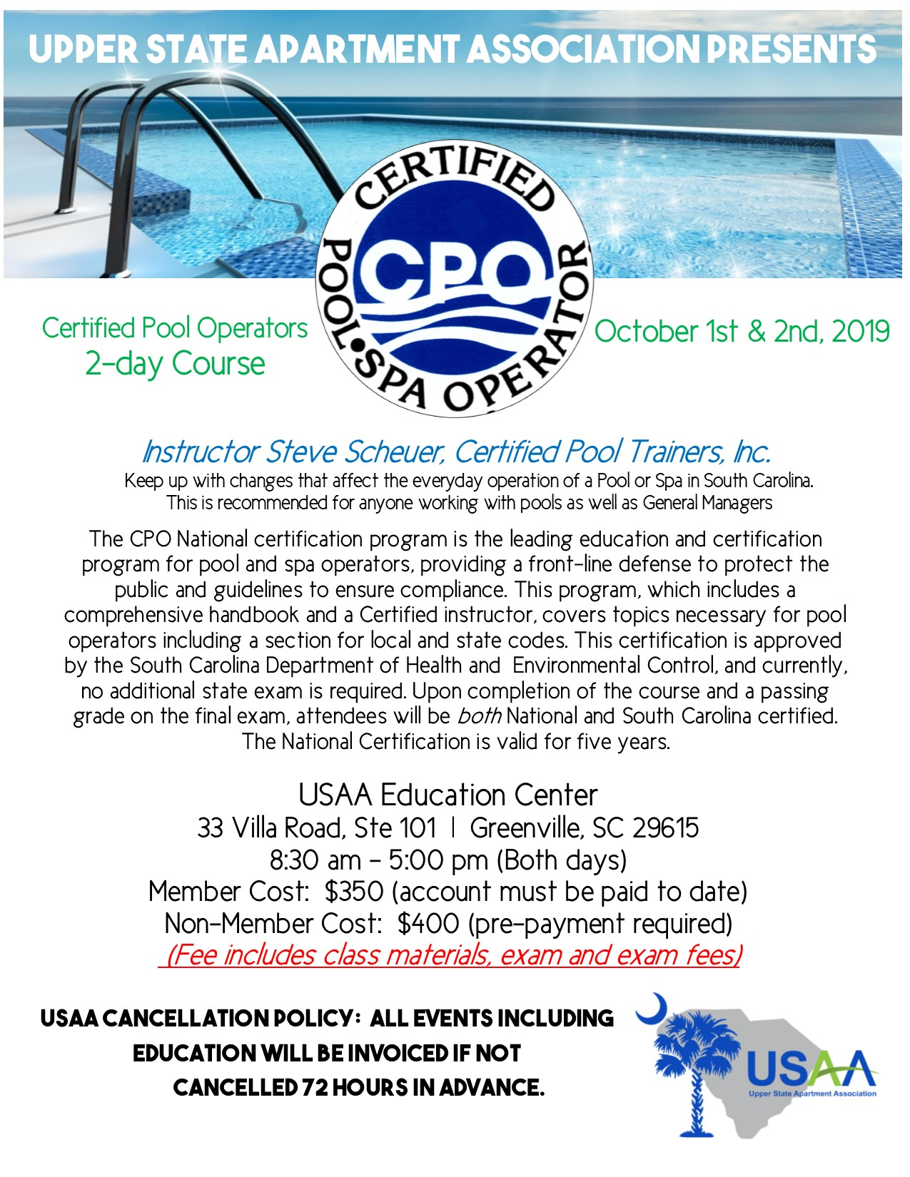Cpo Certification Class Upper State Apartment Association