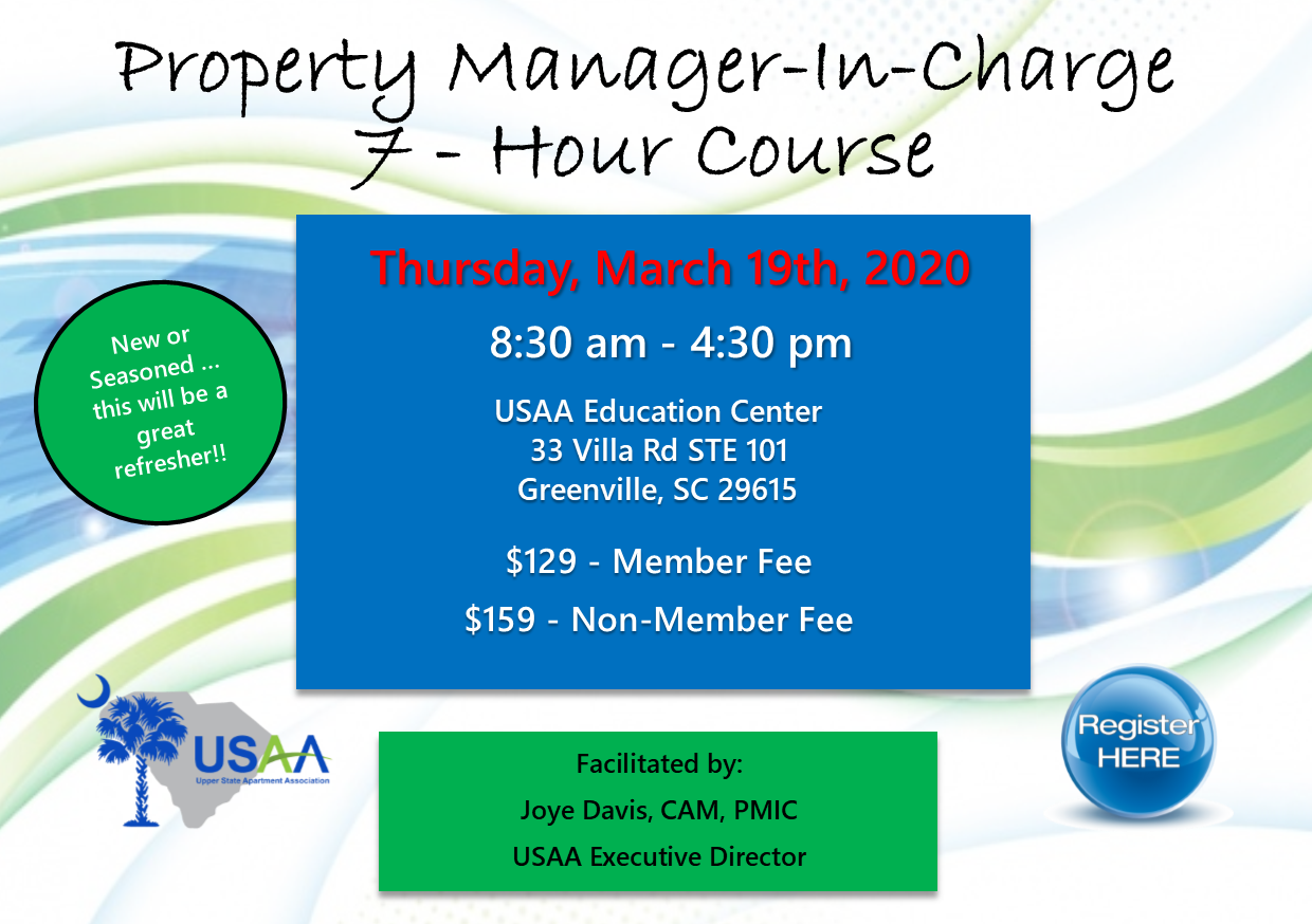 Property Manager In Charge Upper State Apartment Association