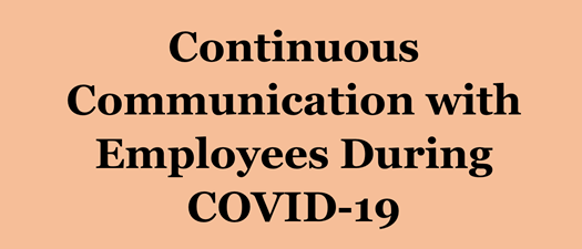 Mini Webinar: Continuous Communication with Employees During COVID-19