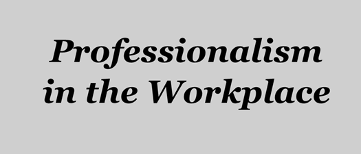 Professionalism in the Workplace (Virtual Course)