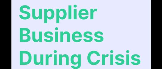 """Supplier Partner Business During Crisis"" Webinar"