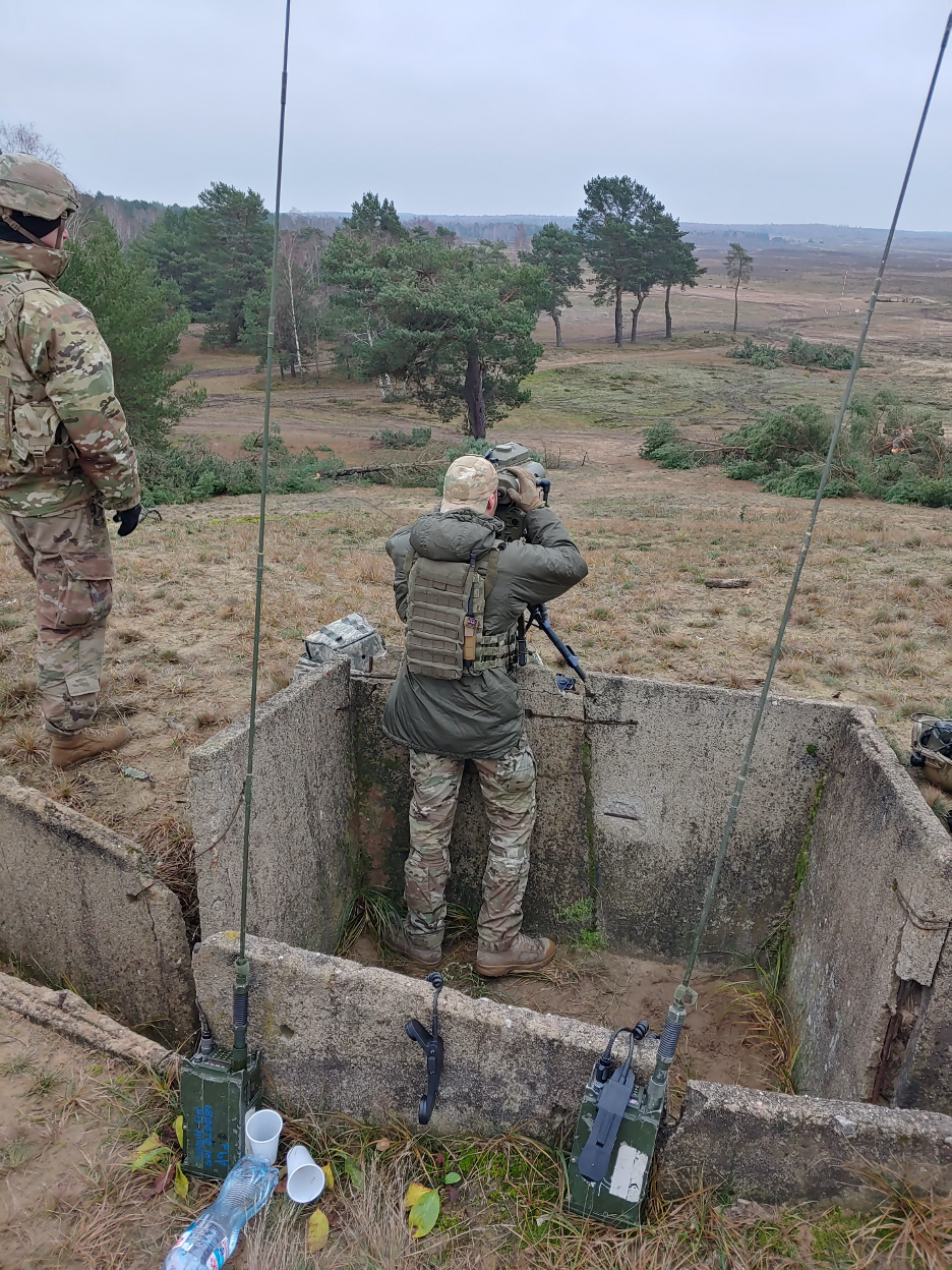 4-9 FIST and Polish JTACs observe live fire from C/3-16 FA in Torun, Poland. 22 NOV 2020.