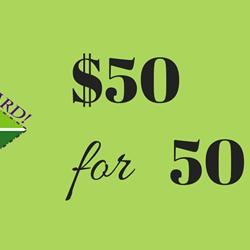 $50 for $50 Anniversary Donation - VAM Gold