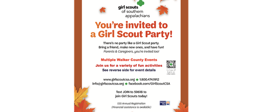 Girl Scouts Of Southern Appalachains Upcoming Events!