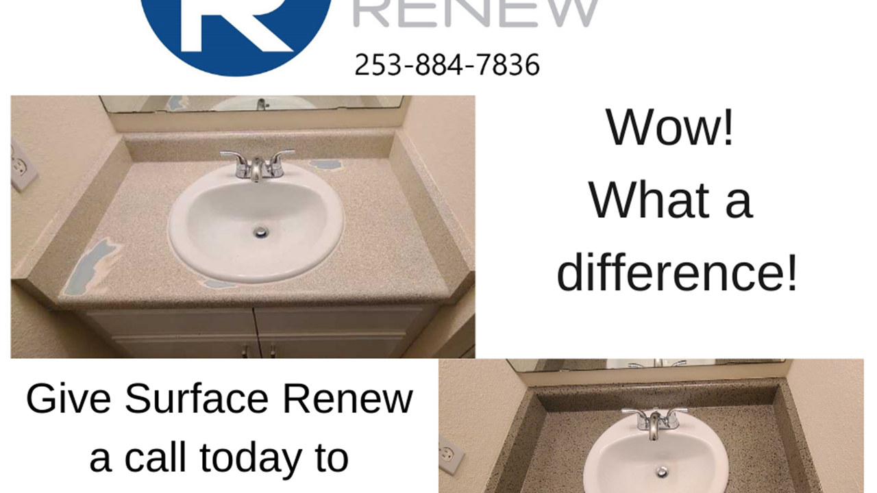 Bathroom Countertop Resurfacing Before and After